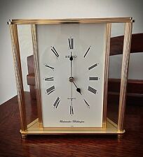 Quality Seiko Quartz Brass & Glass Mantle Clock Westminster or Whittington Chime
