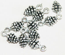 100 pcs of antique silver pinecone charm 13x7mm