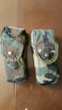Lot of 2 USGI Woodland Camo  Molle Double Mag  30 Round Pouches