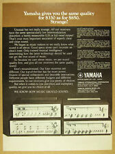 1975 Yamaha Stereo Receiver Models CR-400 600 800 1000 photo vintage print Ad