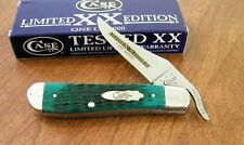 CASE XX New Limited Edition Series 31 Jade Green Bone Russlock Knife/Knives