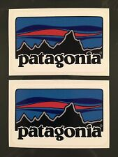 Patagonia Retro Sticker Decal Fishing Hiking Camping X 2