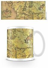 Official The Lord Of the Rings Hobbit Middle Earth Map Mug Novelty Film Gift