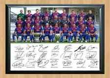 Barcelona Football Squad Signed Autographed A4 Photo Print Team Lionel Messi