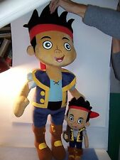 "JAKE and the NEVERLAND PIRATES -  Giant Plush Pillow Buddy 26"" + 14"" - EX. LOT"
