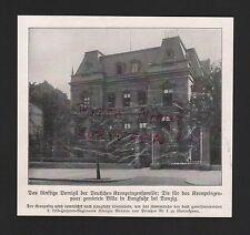 1911 Bildnis Fotografie Villa in Langfuhr bei Danzig Kronprinzenfamilie