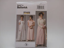 Butterick B6074, Making History, Jane Austen, Regency Dress/Jacket/etc Sz (6-14)