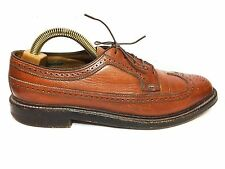 Mens Vintage Florsheim Imperial Cordovan Wing Tip Leather Shoes Size 11 C Narrow
