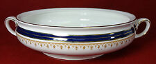 AYNSLEY china LEIGHTON-COBALT Smooth pattern Covered Casserole BASE Factory 2nd