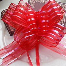 10pcs 50mm Organza Ribbon Pull Bows Wedding Car Decoration Gift Wrap Colourful V