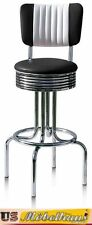 BS-28-CB Black Bel Air Amerikanische Gastronomie Barhocker Diner Theke Bar USA