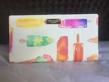 Kate Spade Flavor Of The Month Liberty Street Ice Pop STACY Slim Wallet Bifold