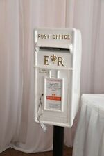 White Royal mail wedding post box HIRE ONLY