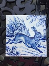 Victorian Style Rabbit Ceramic Tile 6x6