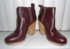 Dolce Vita Brandy Leather Double Zip Arlynn Clog Ankle Booties Size 9 NWOB $220