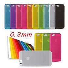 PROTEZIONE ULTRA SOTTILE 0,3 MM + PELLICOLA OMAGGIO IPHONE 5 5G 5S COVER CASE