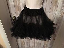 Black Under Skirt Crinoline Ruffles Nylon One Size Short Petticoat