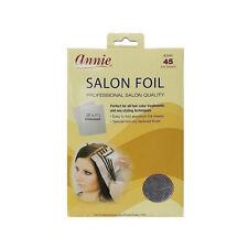 Annie Salon Foil Hair Color Treatment Styling Aluminum Non Slip #2946 -45 Sheets