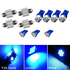 11PCS Blue LED Lights Interior Package for T10 & 31mm Map Dome For Honda