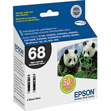 Expired 2 Genuine Epson T0681 black ink 68 69 WorkForce 40 310 315 500 600 610