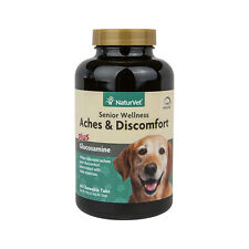 NaturVet Senior Dog Aches and Discomfort Joint Health Support Glucosamine 60 ct