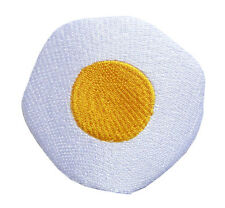 Cute Pretty Sunny Side Up Fried Egg Embroidered Iron on Patch Free Shipping