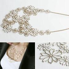 Pour Femmes mode chaîne bijoux bavoir pendentif Collier Avec Des Fleurs