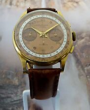 Vintage 18K Rose Gold Chronographe Suisse 17 Rubis Running Good