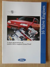 FORD 16 VALVE CARS 1992 UK Mkt Brochure - Escort XR3i Fiesta XR2i RS 1800 16v