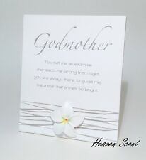 Splosh Godmother Poem Sign Gift Ideas for Her For Godparent & Christening Gifts