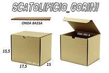 30 PZ SCATOLA CARTONE 17,5x15x15 ,5 FUSTELLATA IMBALLO  MINUTERIE BAULETTO