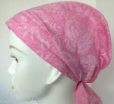 Pink Batik Cancer Chemo Hat Alopecia Hairloss Scarf Turban Headwrap Bad Hair Day