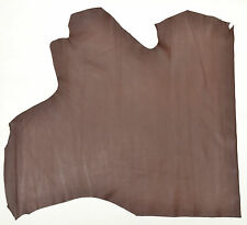 CALF LEATHER HIDE CHOCOLATE 7 SQ FT 1.2 mm THICK SOFT FEEL PANEL 70CM X 60CM