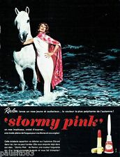 PUBLICITE ADVERTISING 126  1964  maquillage Stormy Pinck Revlon rouge lèvres ver