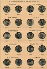 State Quarters 1999 - 2008 Coin Set Collection & Dansco Album 7143 - ST25C JN893