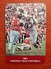 CFB 1981 VIRGINIA TECH HOKIES Football Schedule College FB