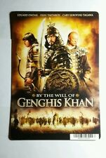 BY THE WILL OF GENGHIS KHAN MOVIE MINI POSTER BACKER CARD (NOT A movie)