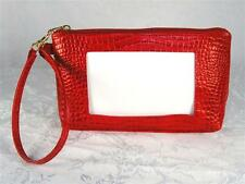 LEE Wrist Bag Purse #BAG44 in Red Leather for a handpainted Needlepoint Canvas