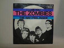 "ZOMBIES:I Love You 3:20-The Way I Feel Inside-Holland 7"" 1968 Decca 15 106AT PSL"