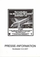 Airport 77 Verschollen im Bermuda-Dreieck Presseheft Jack Lemmon, Lee Grant