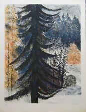 Guy BARDONE (1927) Lithographie, le Sapin, signée et numérotée P1732