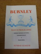 1998/1999 Burnley Sunday League Division 1 Cup Final: Crooked Billet v Black Bul