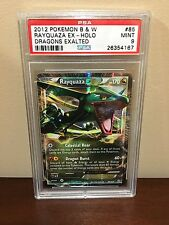 pokemon 2012 b&w dragons exalted rayquaza ex psa 9 mint