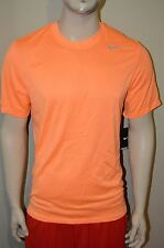 Nike Legend Poly SS Dri-Fit Men's Running Training Orange T-Shirt Size M