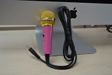 Pink 3.5 mm Desktop Microphone MIC for PC Computer Laptop karaoke