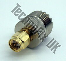 SO239 UHF female to SMA male adapter (UHF F to SMA M) - fits FUNcube dongle etc.
