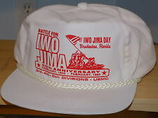 IWO JIMA DAY 50th anniversary cap, USMC 3rd, 4th, 5th divisions,  1945-1995