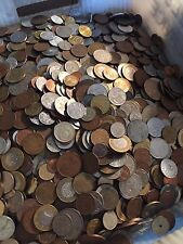 Huge Mixed Bulk Lot of 500 Assorted World/Foreign Coins! Nice Starter Lot!