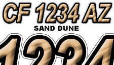 SAND DUNE Boat Registration Numbers PWC Decals Stickers Graphics CF, NV AZ