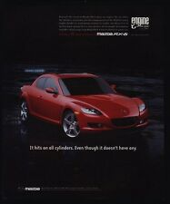 2004 MAZDA RX-8 Red Sports Car VINTAGE AD